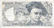 France 50 Francs Quentin de la Tour - 1991 Serial K.64 - F+