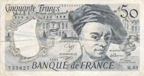 France 50 Francs Quentin de la Tour - 1991 Serial M.63 - F