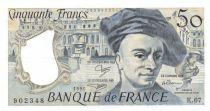 France 50 Francs Quentin de la Tour - 1991 Série K.67 - SUP