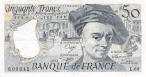 France 50 Francs Quentin de la Tour - 1991 Série L.69 - TTB