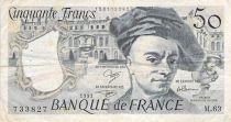 France 50 Francs Quentin de la Tour - 1991 Série M.63 - TB