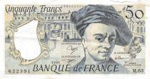 France 50 Francs Quentin de la Tour - 1991 Série M.63 - TTB