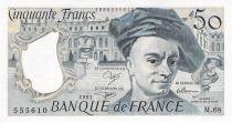 France 50 Francs Quentin de la Tour - 1991 Série M.68 - SPL