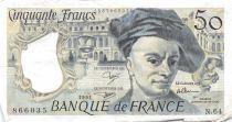 France 50 Francs Quentin de la Tour - 1991 Série N.64 - PTTB