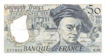 France 50 Francs Quentin de la Tour - 1991 Série O.68 - PSUP