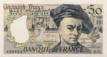 France 50 Francs Quentin de la Tour - 1992 - Serial B.72 - XF+