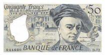 France 50 Francs Quentin de la Tour - 1992 Serial D.72 - AU+