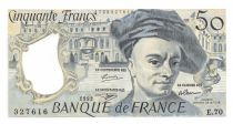 France 50 Francs Quentin de la Tour - 1992 Serial E.70 - aUNC