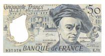 France 50 Francs Quentin de la Tour - 1992 Serial E.71 - aUNC