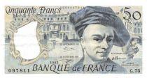 France 50 Francs Quentin de la Tour - 1992 Serial G.73 - XF