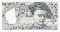 France 50 Francs Quentin de la Tour - 1992 Serial H.73 - aUNC