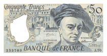 France 50 Francs Quentin de la Tour - 1992 Serial J.70 - UNC