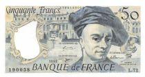 France 50 Francs Quentin de la Tour - 1992 Serial L.72 - AU
