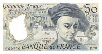France 50 Francs Quentin de la Tour - 1992 Serial P.70 - aUNC
