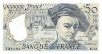 France 50 Francs Quentin de la Tour - 1992 Série E.73 - SPL