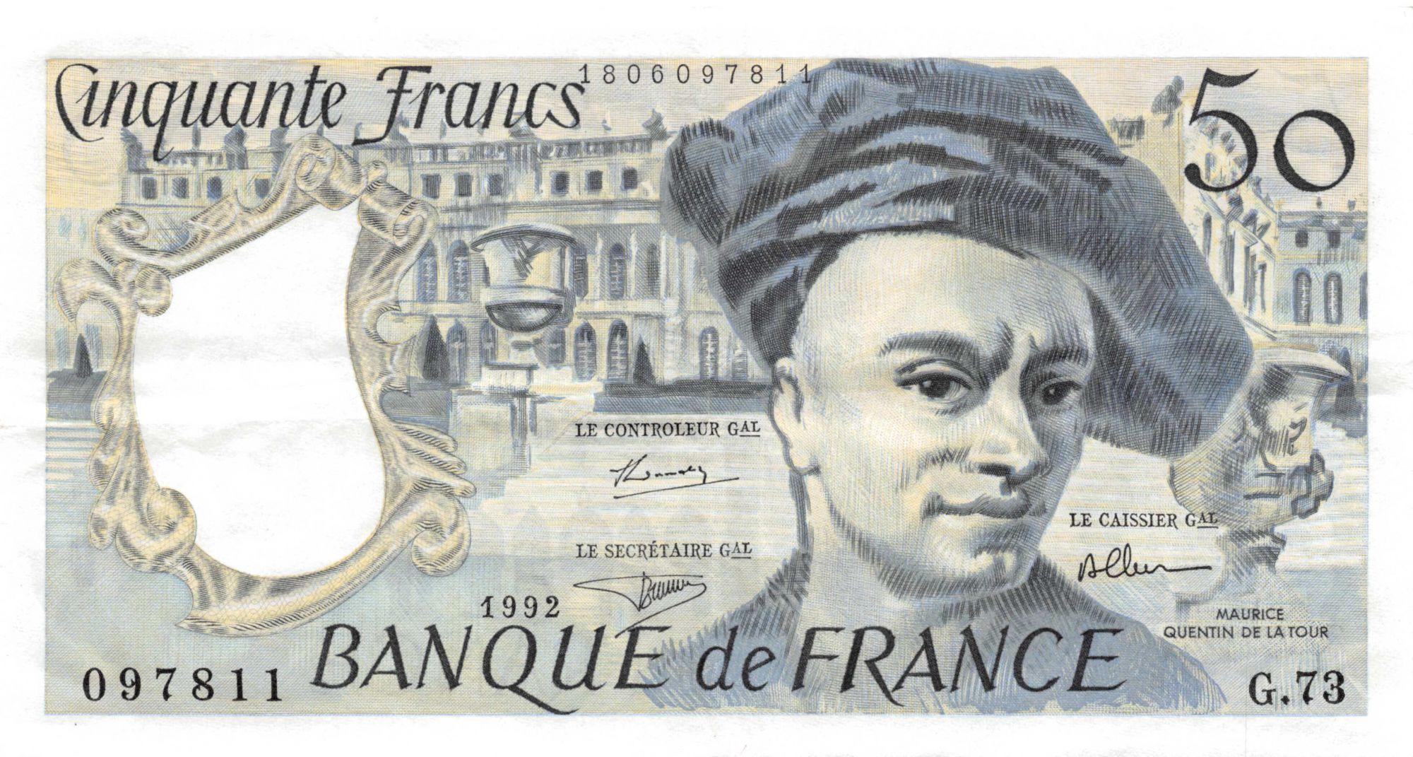 France 50 Francs Quentin de la Tour - 1992 Série G.73 - SUP