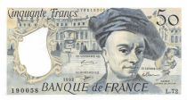 France 50 Francs Quentin de la Tour - 1992 Série L.72 - SPL