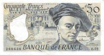 France 50 Francs Quentin de la Tour - 1992 Série O.72 - SUP