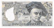 France 50 Francs Quentin de la Tour - années 1976 à 1992 - PSUP