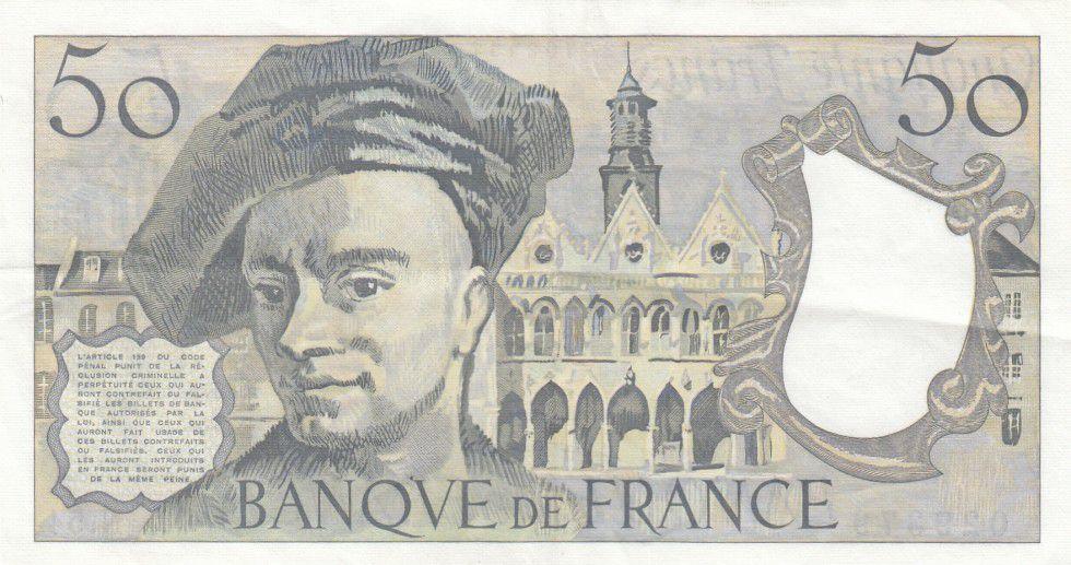 France 50 Francs Quentin de la Tour - années 1976 à 1992