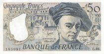France 50 Francs Quentin de la Tour - C.36 - 1984