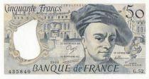 France 50 Francs Quentin de la Tour - G.52 - 1988