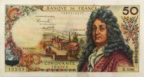 France 50 Francs Racine - 02-02-1967 Serial E.106 - VF