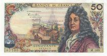 France 50 Francs Racine - 02-02-1967 Serial M.100 - XF+