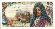 France 50 Francs Racine - 02-02-1967 Serial X.98