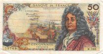 France 50 Francs Racine - 02-02-1967 Série X.105 - TTB