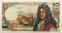 France 50 Francs Racine - 02-03-1972 Serial C.189 - VF