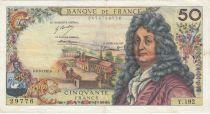France 50 Francs Racine - 02-03-1972 Série Y.192 - PTTB