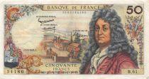 France 50 Francs Racine - 02-05-1963 Serial B.61 - VF
