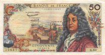 France 50 Francs Racine - 02-05-1963 Serial G.61 - VF