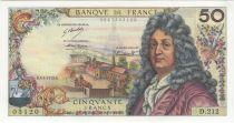 France 50 Francs Racine - 04-01-1973 Serial D.212 - AU