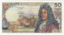 France 50 Francs Racine - 05-09-1974 Serial M.250 - VF+