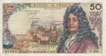 France 50 Francs Racine - 06-03-1975 Série X.268 - TTB
