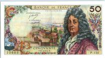 France 50 Francs Racine - 06-11-1969 Serial P.151