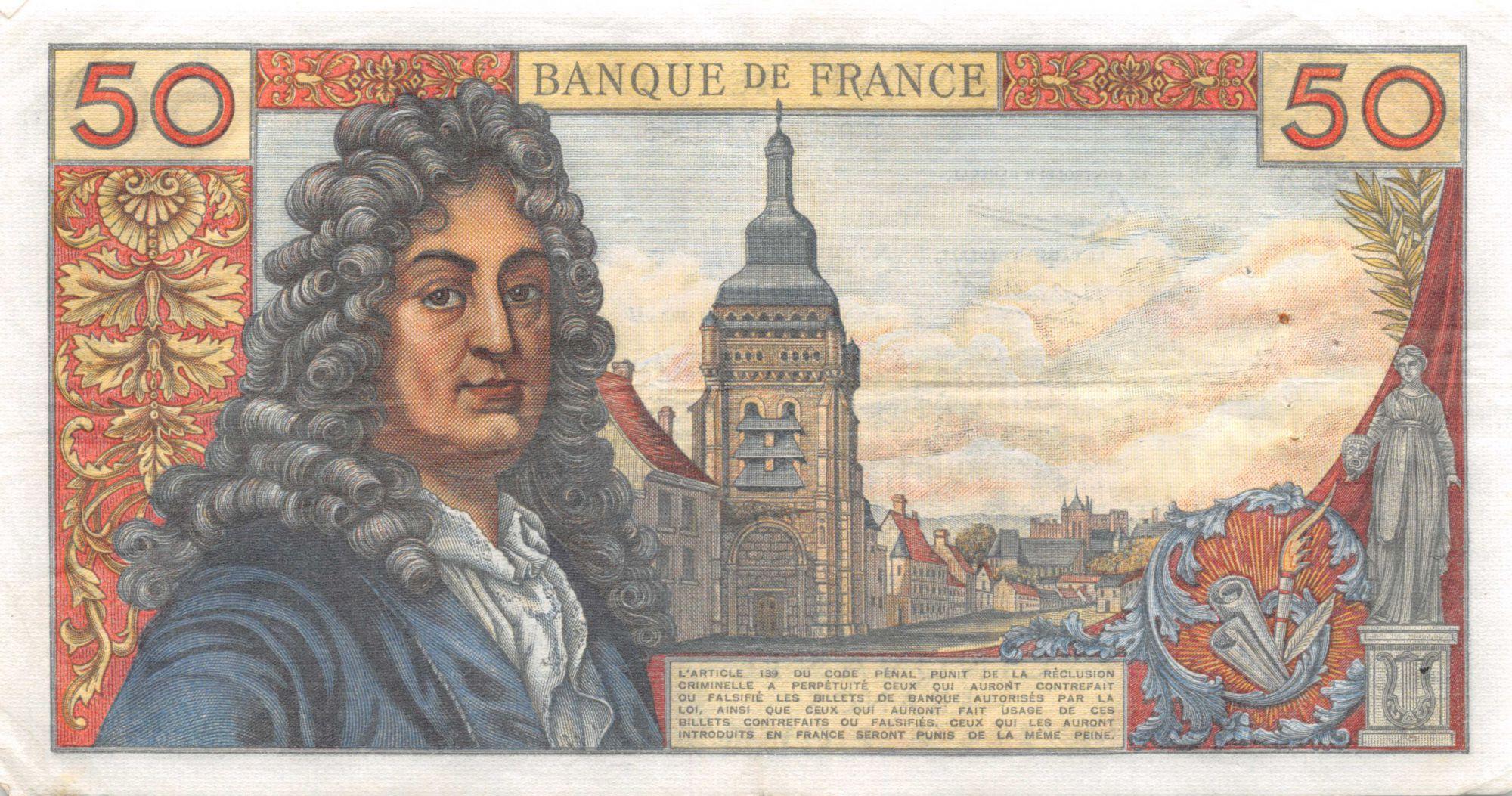 France 50 Francs Racine - 06-12-1962 Série A.34 - TTB
