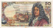 France 50 Francs Racine - 07-02-1963 Serial D.49 - VF