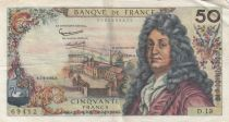 France 50 Francs Racine - 07-06-1962 Serial D.13 - VF