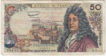 France 50 Francs Racine - 07-06-1962 Serial Q.1 - F