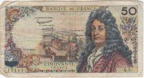 France 50 Francs Racine - 07-06-1962 Serial Q.5 - F