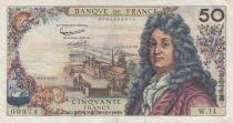 France 50 Francs Racine - 07-06-1962 Serial W.14 - F