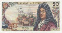France 50 Francs Racine - 07-06-1962 Serial W.5 - VF+