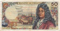 France 50 Francs Racine - 11-07-1963 Serial N.71 - F to VF