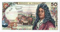 France 50 Francs Racine - Spécimen N° 0438 - 1962