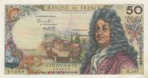 France 50 Francs Racine 02-02-1967 - Serial H.107 - VF
