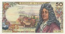 France 50 Francs Racine 02-03-1972 - Serial V.194 - XF+