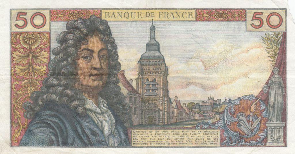 France 50 Francs Racine 02-03-1972 - Série O.190